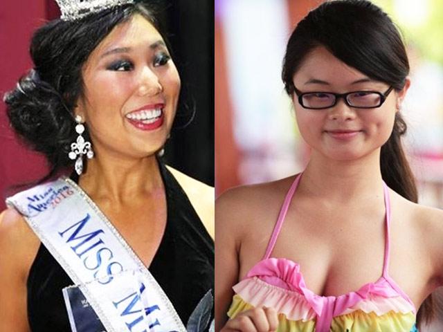 Nhan sắc gây thất vọng của các người đẹp, hoa hậu Trung Quốc