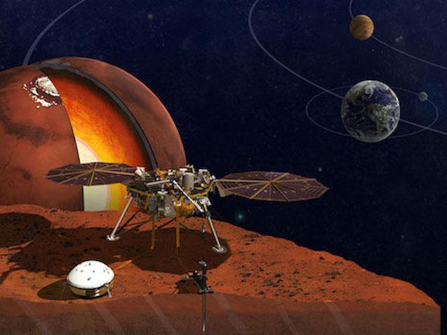 Tàu vũ trụ InSight đáp xuống sao Hỏa và gửi bức ảnh đầu tiên về Trái Đất
