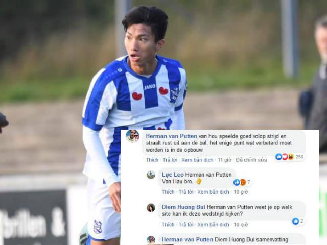 """Văn Hậu đá trọn 90 phút ở Hà Lan """"gây sốt"""" mạng xã hội, fan chia vui"""