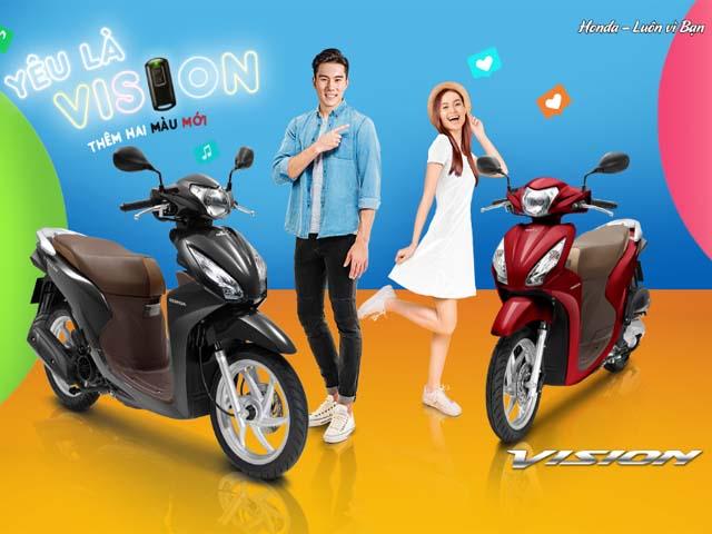 Bảng giá xe máy Honda Vision: Thêm màu mới, giá vẫn chênh tới 6 triệu đồng