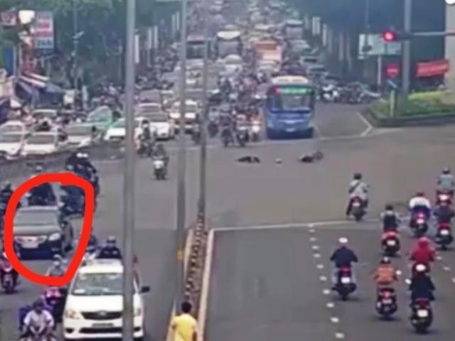 Gây tai nạn bị camera ghi hình, tài xế Camry liền bồi thường 40 triệu đồng