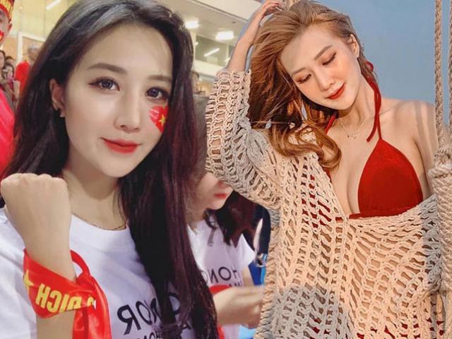 """Đăng ảnh selfie trên khán đài sân Mỹ Đình, nữ CĐV """"gây bão"""""""