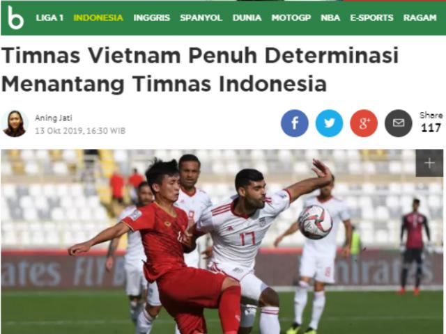 """Báo Indonesia """"soi"""" ĐT Việt Nam """"từng chân tơ kẽ tóc"""" ở vòng loại World Cup"""