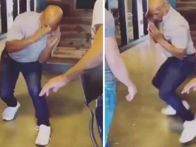 """Mike Tyson 53 tuổi """"ra đòn tựa tia chớp"""" thị uy võ sỹ trẻ"""