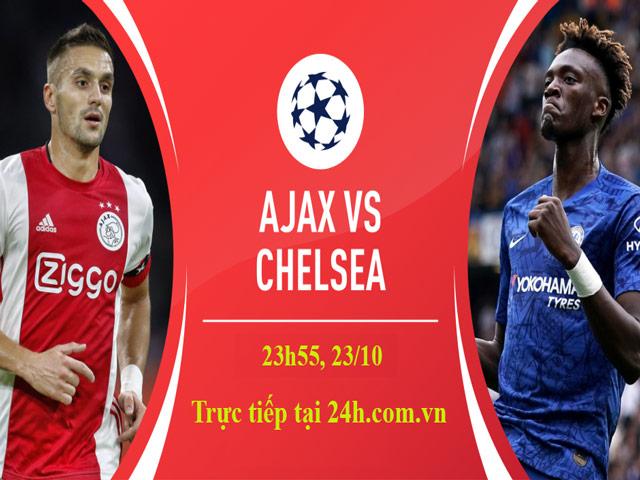 Trực tiếp bóng đá Cúp C1, Ajax - Chelsea: SAO 18 tuổi trợ chiến Abraham