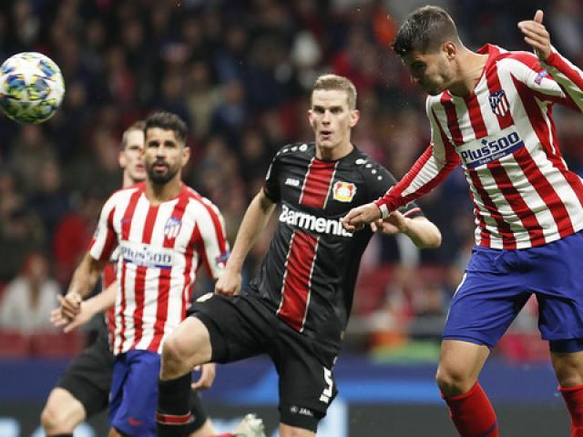 Kết quả bóng đá cúp C1 Atletico Madrid - Leverkusen: Alvaro Morata hóa người hùng