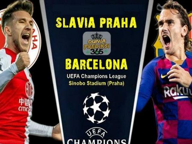 """Nhận định bóng đá Cúp C1 Slavia Praha - Barcelona: Chờ Messi, Griezmann chiêu đãi """"đại tiệc"""""""