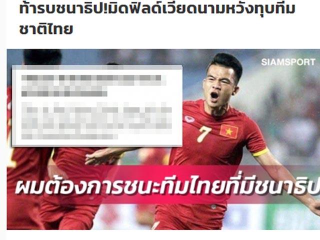 Kinh điển Việt Nam - Thái Lan còn 2 tuần: Báo Thái sục sôi vì á quân V-League