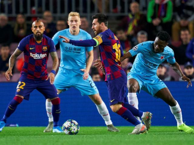 Kết quả bóng đá cúp C1 Barcelona - Slavia Prague: Messi khuấy đảo, vận may khó ngờ