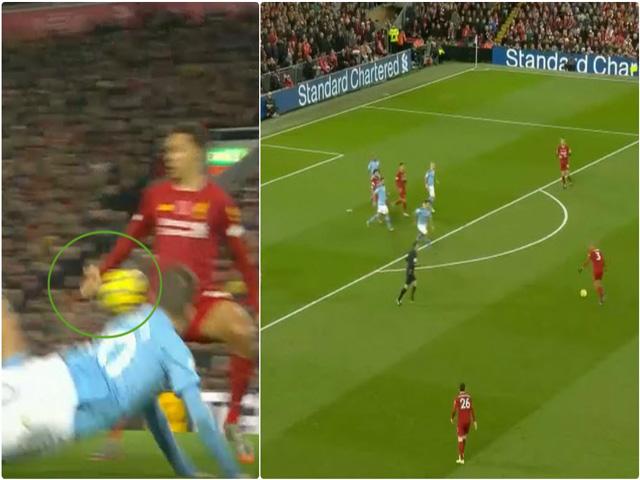 """Tranh cãi Liverpool - Man City: Siêu phẩm """"sấm sét"""", đội khách thua oan?"""