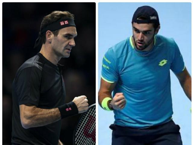 Trực tiếp tennis Federer - Berrettini: Tình thế nguy nan, huyền thoại giải ẩn số (ATP Finals)