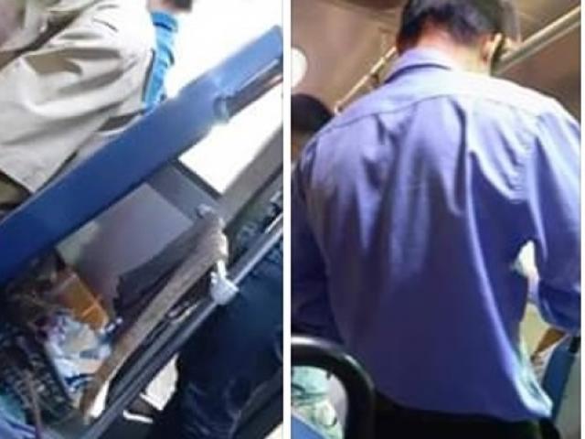Nhận vé tập của khách nữ, nhân viên xe buýt ở Sài Gòn vo tròn rồi vứt vào sọt rác