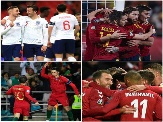 Vòng loại EURO 2020 bùng nổ: Ông lớn ra oai 26 bàn/4 trận, đội nào đã có vé?