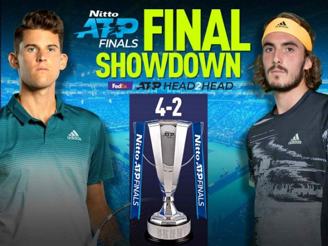 """Chung kết ATP Finals: Thiem - Tsitsipas tranh ngôi """"Vua tương lai"""""""