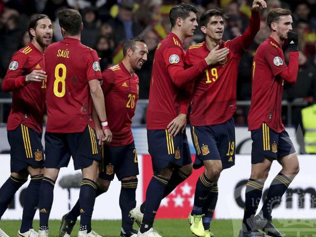 """Video highlight trận Tây Ban Nha - Romania: Hiệp 1 thăng hoa, tưng bừng """"bàn tay nhỏ"""""""