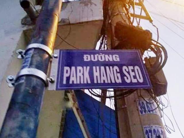 Tháo bảng tên đường mang tên HLV Park Hang-seo ở quận 9