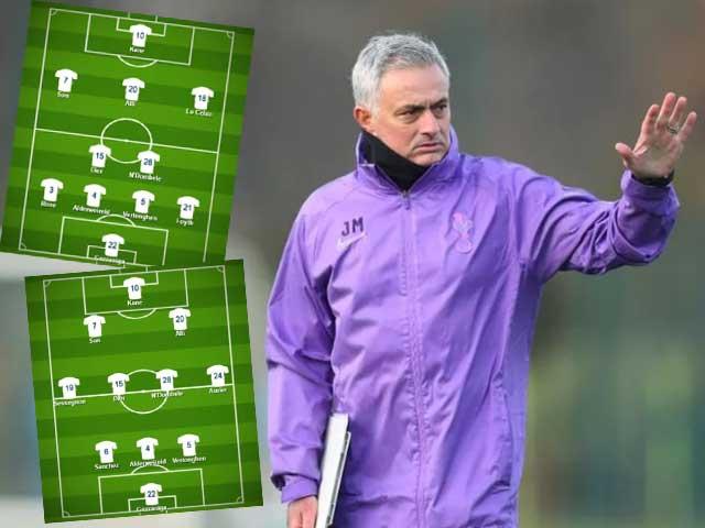 """Đội hình Tottenham thời Mourinho: Sơ đồ """"tủ"""" hay 3-4-3 cách tân?"""