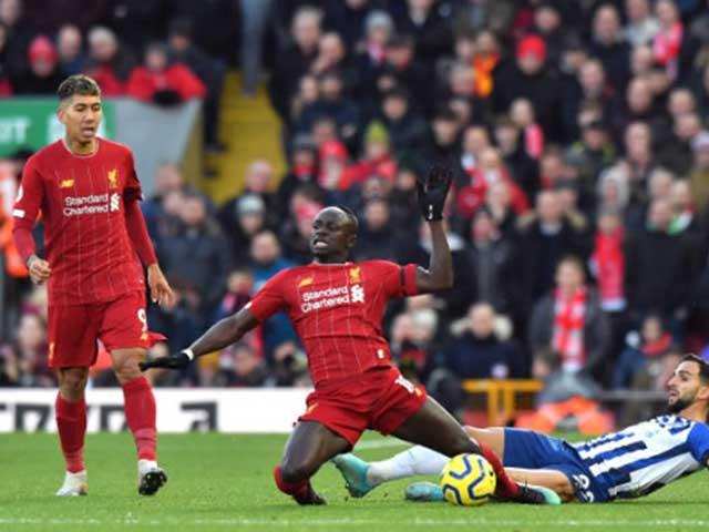 Video highlight trận Liverpool - Brighton: Cú đúp, thẻ đỏ ngỡ ngàng và phút cuối nghẹt thở