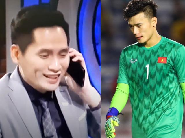 MC VTV bốc máy gọi Đặng Văn Lâm sau bàn thua của Bùi Tiến Dũng gây tranh cãi
