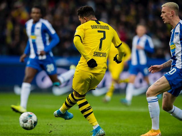 """Video highlight trận Hertha Berlin - Dortmund: """"Neymar nước Anh"""" tỏa sáng, định đoạt cực sớm"""