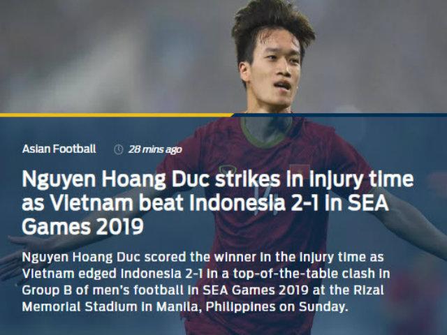"""U22 Việt Nam thắng nghẹt thở: Báo châu Á tung hô """"người hùng"""" Hoàng Đức"""
