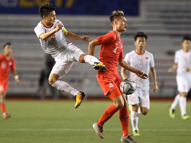 Trực tiếp bóng đá U22 Việt Nam - U22 Singapore: Quang Hải rời sân sớm