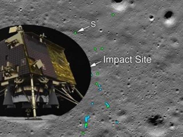 Đã tìm thấy vết tích va chạm trên Mặt Trăng của tàu đổ bộ Ấn Độ