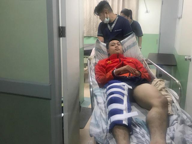 Võ sĩ Việt Nam gặp chấn thương nghiêm trọng ở SEA Games 30