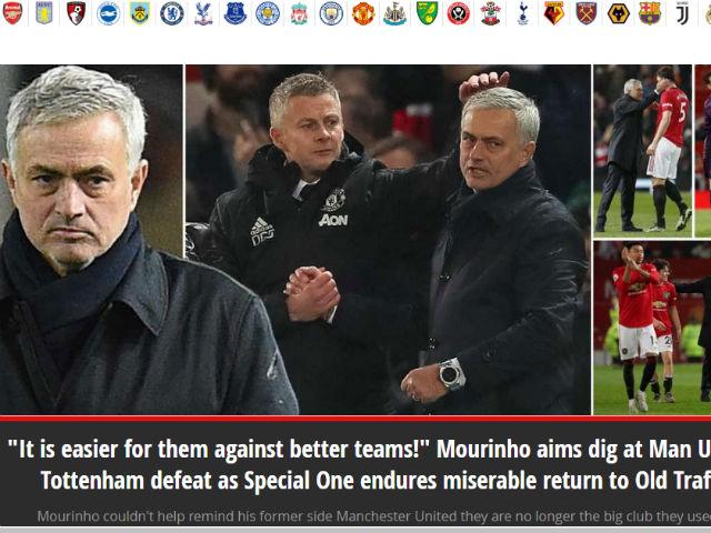 """MU """"lột xác"""" hạ gục Tottenham: Báo Anh kinh ngạc, chê Mourinho mờ nhạt"""