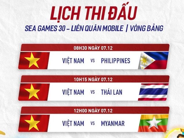 Lịch thi đấu Liên Quân Mobile của đại diện Việt Nam tại SEA Games 30