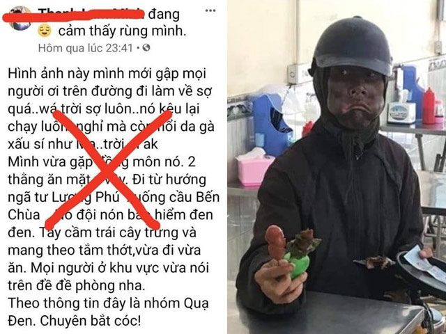 Đăng tin người ăn xin bôi đen mặt về đến Tiền Giang, thanh niên bị công an mời việc
