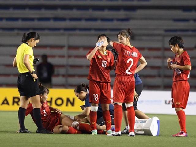 Chấn thương chảy máu, tuyển nữ Việt Nam nén đau hạ Thái Lan vô địch SEA Games
