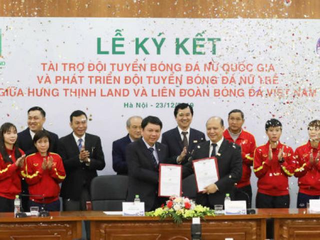 Hưng Thịnh Land tài trợ đội tuyển nữ Việt Nam 100 tỷ đồng hướng tới chiến công mới