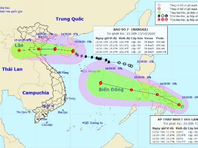 Đêm nay (13/10), bão số 7 đi vào Vịnh Bắc Bộ, biển động rất mạnh