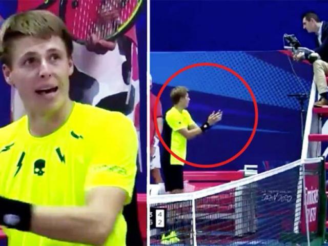 Bàng hoàng tennis: Đi vệ sinh xong quay lại bị trừ điểm và thua luôn game