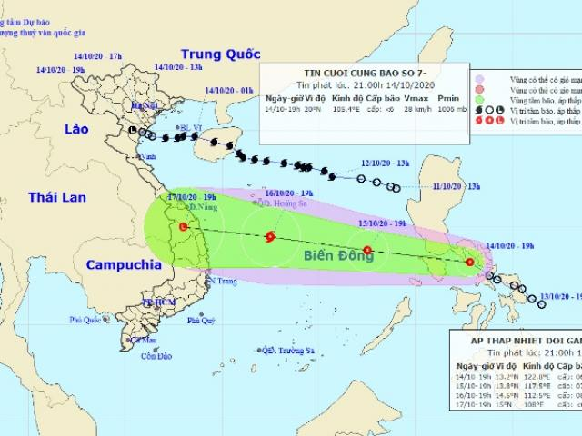 Cập nhật diễn biến của bão số 7 và áp thấp nhiệt đới gần Biển Đông