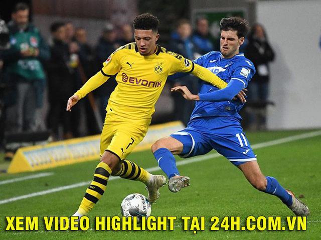 Video highlight trận Hoffenheim – Dortmund: Haaland kiến tạo, người hùng dự bị