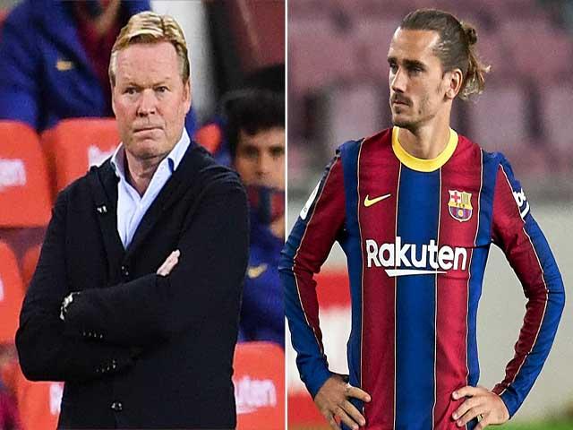 """""""Lò lửa"""" Barca âm ỉ cháy: HLV Koeman thất hứa với Griezmann vì Messi?"""