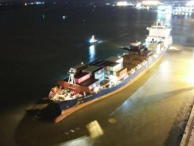 Hình ảnh đầu tiên đoàn tàu Nhổn-ga Hà Nội cập cảng Hải Phòng rạng sáng nay