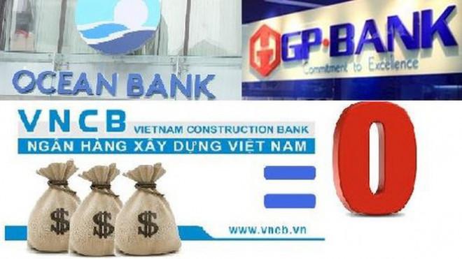 """Các ngân hàng """"0 đồng"""" vẫn đang thua lỗ nặng"""