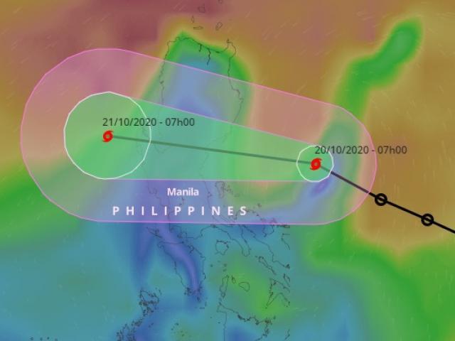 Áp thấp nhiệt đới đã mạnh thành bão, gió giật cấp 10 hướng vào Biển Đông