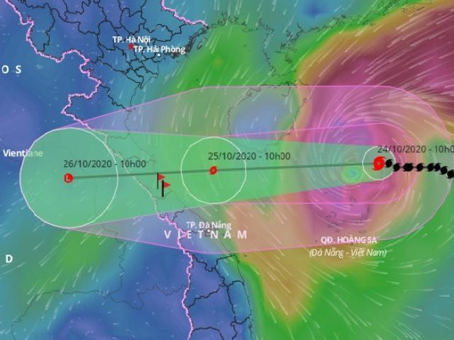 Bão số 8 giật cấp 12 đang tăng tốc hướng vào Hà Tĩnh – Quảng Trị