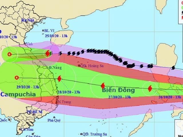 Thêm bão số 9, thời tiết miền Trung diễn biến phức tạp