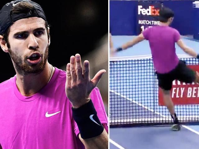 """""""Gã nổi loạn"""" tennis dọa trọng tài """"hết hồn"""" vẫn thản nhiên chơi cả trận"""