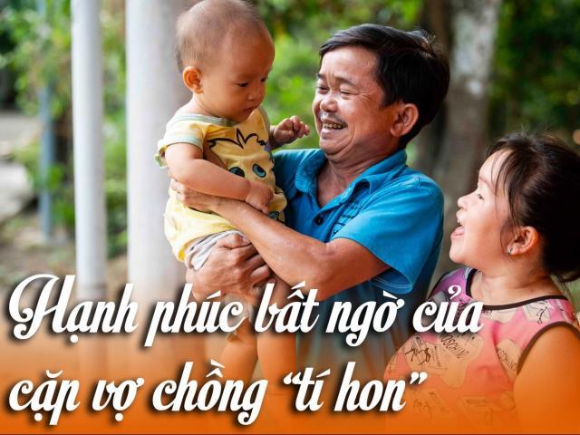 """Hạnh phúc bất ngờ của cặp vợ chồng """"tí hon"""": Con biến đổi gen, không """"tí hon"""" như bố mẹ"""