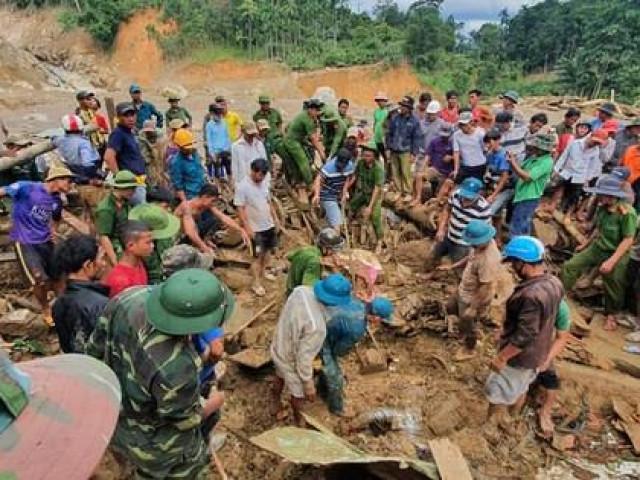 Hiện trường vụ sạt lở kinh hoàng tại Trà Leng - Quảng Nam