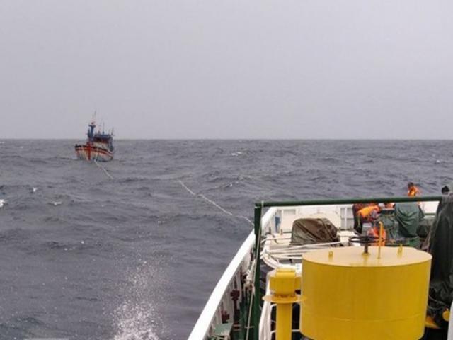 5 tàu kiểm ngư, 2 máy bay tìm kiếm 26 ngư dân mất tích