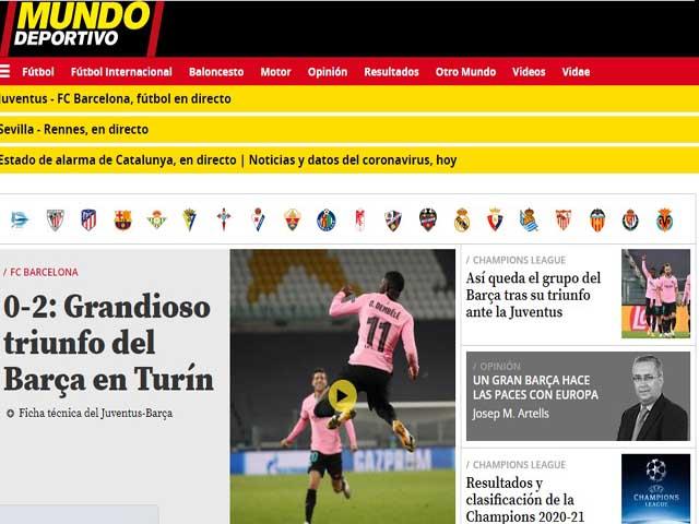 """Juventus thua Barca: Morata lập """"hat-trick việt vị"""", báo giới thương xót"""