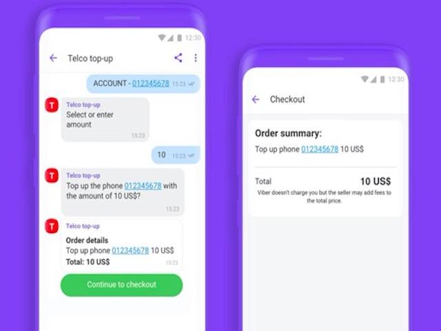 Không chỉ nhắn tin, Viber sắp trở thành siêu ứng dụng với chatbot chuyển tiền online