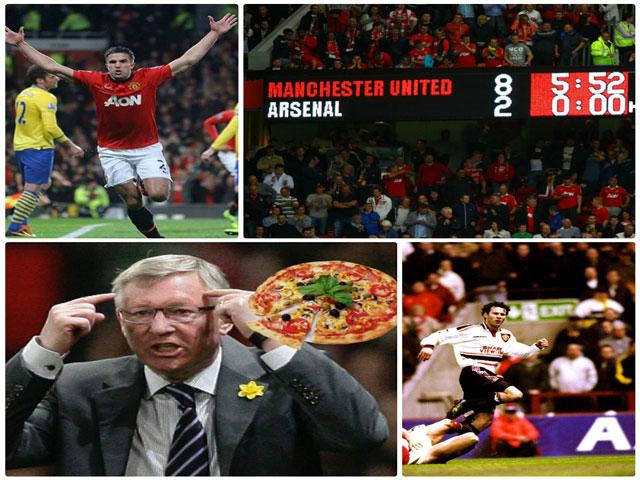 """Ân oán MU - Arsenal: """"Pizza bay"""", thảm bại 2-8 và những sự thật để đời"""